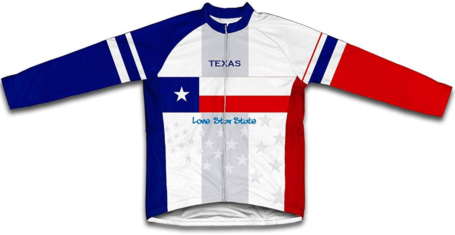Texas Flag Winter Thermal Cycling Jersey for Women