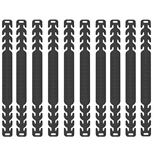 Maskenhalter 10 Stücke Maske Ohrhaken aus Silikon Anti-rutsch Maskenhalten Verlängerungsriemen zur Verringerung von Ohrenschmerzen 4 Gang Einstellbare Haken für Erwachsene und Kinder