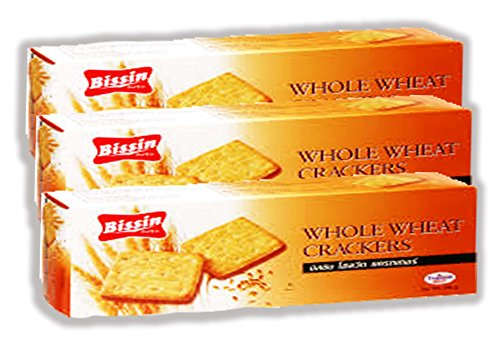 Whole Wheat Crackers Bissin 180 G.pack 3