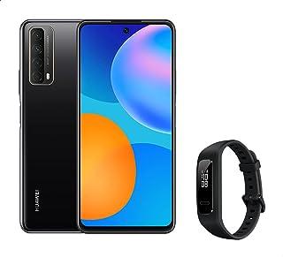 Huawei Y7a Mobile Phone, Dual SIM - 128 GB, 4 GB RAM, 4G LTE - Midnight Black with Huawei Band 3E Watch - Black