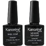 KANORINE ™ Base e Top Coat UV/LED No Wipe Smalto in Gel - Set Composto da Semipermanente Smalto...