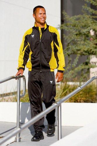 Erima trainingspak van polyester Racing, maat: XS - 164 cm, kleur: zwart/geel