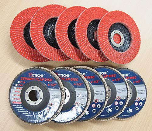 Lot of (10) Ceramic Flap Disc Grinding wheel 4-1/2