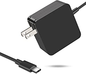 PDUSBSZ 65W USB C Power Adapter, Type C Power PD Wall Fast Charger Compatible with MacBook Pro, Dell Latitude, Chromebook, Lenovo, Huawei Matebook, HP Spectre, Acer and Any Laptops or Smart Phones