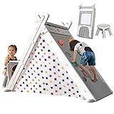 Merax Foldable Triangle Climber, 4-in-1 Kids...