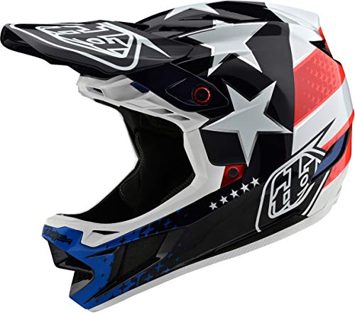 Troy Lee Designs D4 Composite Helmet Freedom 2.0 Red/White, XXL
