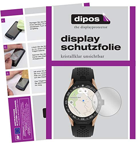 dipos I 6x Protector de Pantalla compatible con Tag Heuer Connected pelicula Protectora Claro