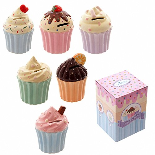 Cutesy cupcake ceramic money box