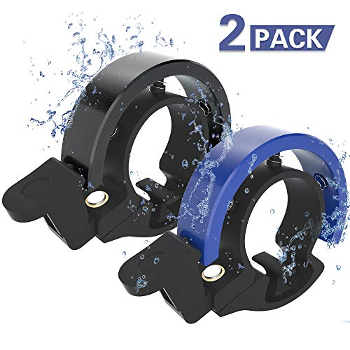 Meowtutu Fahrradklingel, Q Bell laut und hell Radfahren Fahrradglocke MTB Mountainbike Alarm Horn Ring Fahrrad Ring fr 22.2-23mm Lenker (Blau & Schwarz, 2 Packung)