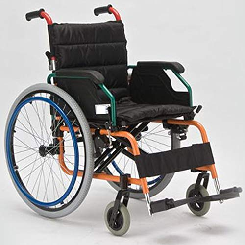 SSLL Kinderen/Kinderstoel Lichtgewicht en Opvouwbaar Frame Attendant-Propelled Rolstoel Draagbare Transit Reisstoel, Uitneembare Voetsteunen, Met Remmen