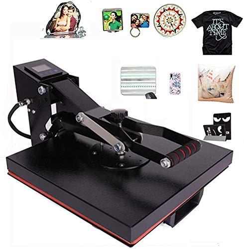 CO-Z Heat Press Machine Platen, Sublimation Machine T Shirt Transfer Press for Clothes, T-Shirt, Mousepad, Phone Case, Tote Bag, Pillow Case, Coasters, Puzzles, Ceramic Tiles, More (15x15 Inch)