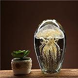 Medusa di vetro sfera di cristallo ornamenti artigianato smalto colorato regali di compleanno casa modello camera creative piccole decorazioni
