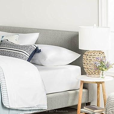 Brookside TENCEL Sheet Set - Luxurious Feel - Great for Sensitive Skin - Sateen Weave - Eco Friendly - King - White