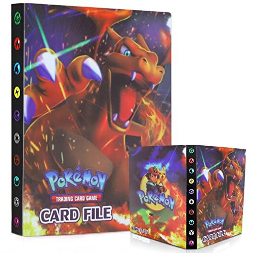 Egmelos Album Compatible Con Pokemon, Album Pokemon, 30 páginas Álbum de Entrenador, Carpeta compatible con Cartas Pokemon, Album Cartas Pokemon 30 páginas Hasta 240 tarjetas (Charizard)