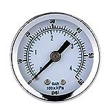 Manometro 10/25/40 / 60MPa Test Kit calibro di pressione idraulica con 4 pezzi Oil Gauge prova a getto di pressione Tester Piezometro Tester di pressione ( Color : Black , Size : One size )