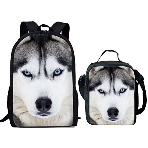 Nopersonality , Unisex Kinder Schulranzen, Husky Backpack & Lunch Bag (Weiß) - Nopersonality