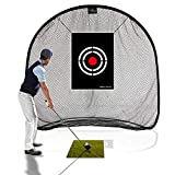 GALILEO Golf Net Golf Hitting Nets for Backyard Practice Portable 7'(L) X7'(H) X4.5'(W) Driving Range Golf Cage Indoor Golf Net Training Aids with Target