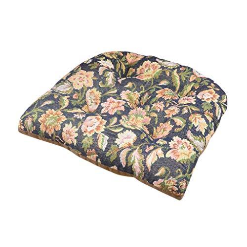 FeiliandaJJ Stuhl Sitzkissen Vintage Retro Blumen Drucken Stuhlkissen 45x45cm - Auflage Sitzauflage Büro Boden Balkon Garten Stuhlkissen für Innen Außenbereich Chair Cushion (B)