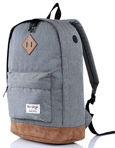 936Plus College Backpack High School Bookbag, Grey