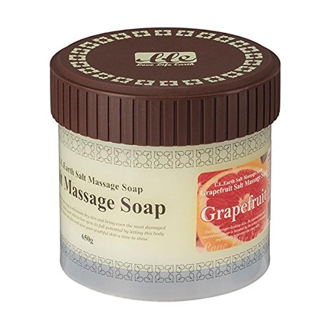 ラテン面白いでるLLE 業務用 ソルトマッサージソープ 650g [選べる香り5種類] ( ボディ用 スクラブ ) グレープフルーツ