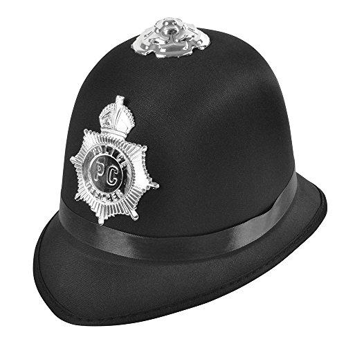 Bristol Novelty BH660 Police Bobby-Hut Satin-Stoff, Unisex-Erwachsene, Einheitsgröße