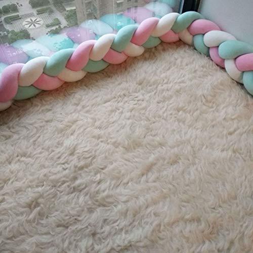 Tding goed uitziende Lange Strips Handgemaakte Twist Braid Kinderen Bed Omtrek Kamer Decoratie Diy Bed Omtrek wieg Bumper