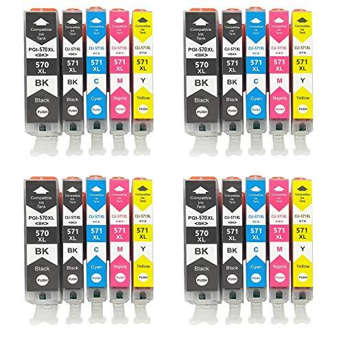 Cartuchos de tinta compatibles para impresora Canon TS8053 TS9050 TS9055