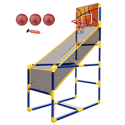 Best Price LXLA Portable Basketball Hoop Stand for Toddler/Kids, Indoor Basketball Shoot Arcade Game...