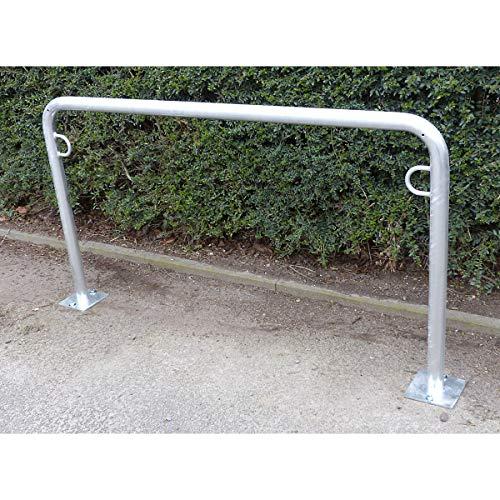 Arceau range-vélos 850 mm hors sol - à cheviller, galvanisé à chaud - en forme de U, longueur 1500 mm - Etrier Support cycles Support pour bicyclettes Support pour cycles Supports cycles Range-vélos Support-cycles Supports-cycles