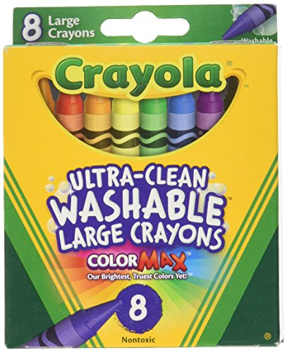 Crayola 8 Count Ultra Clean Washable Large Crayons Color Max (Pack of 3)