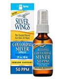 Natural Path Silver Wings Colloidal Silver 50 PPM, Fluid oz Spray, Golden Yellow, 2 Fl Oz