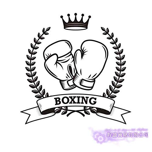 Boxhandschuhe Aufkleber Kick Boxer Spielen Aufkleber Free Fight Poster Vinyl Front Wandtattoo Dekorieren Dekoration Boxen Aufkleber 42X48Cm
