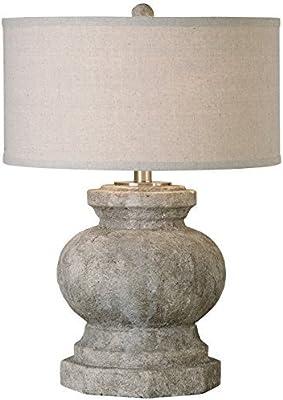 Amazon.com: Greens - Lámpara de mesa de lino para tambor ...