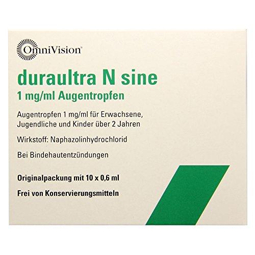 DURAULTRA N sine Augentropfen 10X0.6 ml