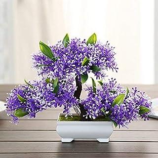 Roovtap Simulación de plantas pequeñas de plástico falsificadas flores verde planta vino armario estantería estantería hog...