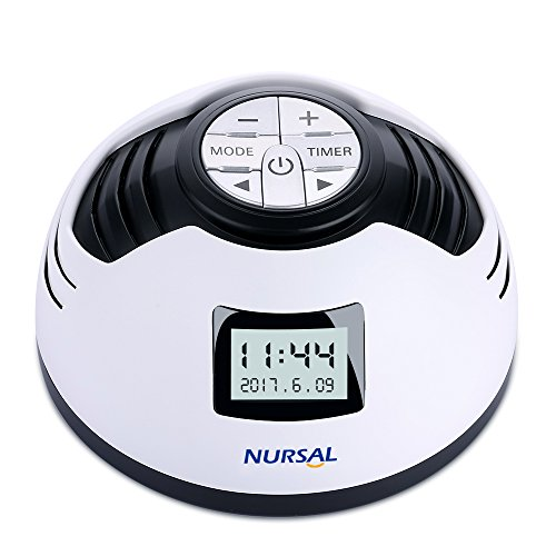 NURSAL White Noise Machine, Macchina per Rumore Bianco per Sonno e Sveglia con Timer Spegnimento e 8 Suoni Rilassanti per Spa, Terapia Sonora Sonno per Neonati e Adulti, Relax in Ufficio e in Viaggio