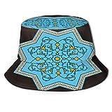 PUIO Sombrero de Pesca,Adorno Floral de Fez,Senderismo para Hombres y Mujeres al Aire Libre Sombrero de Cubo Sombrero para el Sol