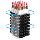 JackCubeDesign 360 Rotating Lipstick Clear Acrylic Display Rack Organizer Stand Lazy Susan Makeup Cosmetics Storage Case Box Carousel Stunning Shelf with 80 Compartments – :MK391A