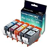5-Pack (Large Black, Small Black, Cyan, Magenta, Yellow) Compatible PGI225 CLI226 PGI-225 CLI-226 Ink Cartridge Used for PIXMA MG5220 MG6120 MG5320 MX882 MX712 IP4920 Printer, by MuchMore