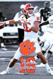 Poster - College Football Trevor Lawrence - Clemson Tigers Quarterback - Tiger Paw Photo - National Champs! Super Print