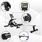 Merax Magnetisches Rudergerät Indoor-Faltrudern mit magnetischem Bremssystem, LCD-Monitor und 8-stufigem Widerstandsanpassungs-Fitnessgerät - 3