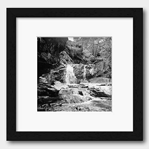 Stream Flowing Into River Dee in Braemar Scotland UK 1952 Print Black Frame White 40 x 40