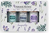 Natural Riches Tranquility Serenity Essential Oil Blends Set with Sleep, Stress Relief and Head Easy Essential Oils 3 x 10 ml