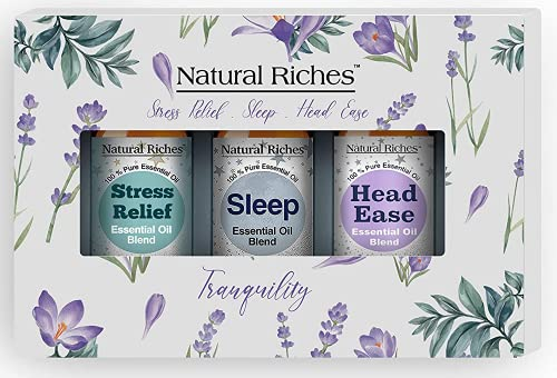 Natural Riches Tranquility Serenity Essential Oil Blends Set...