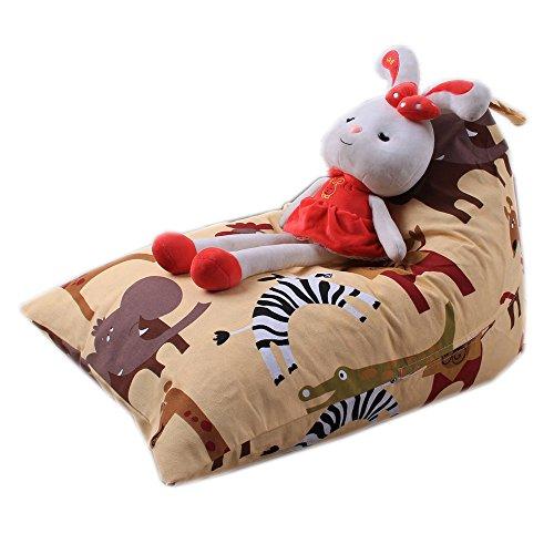 Sitzsack Kinder Stofftier Kuscheltiere Aufbewahrung Aufbewahrungstasche Soft Pouch Stoff Stuhl, Holeider Spielzeug Aufbewahrungstaschen Hängend (D)
