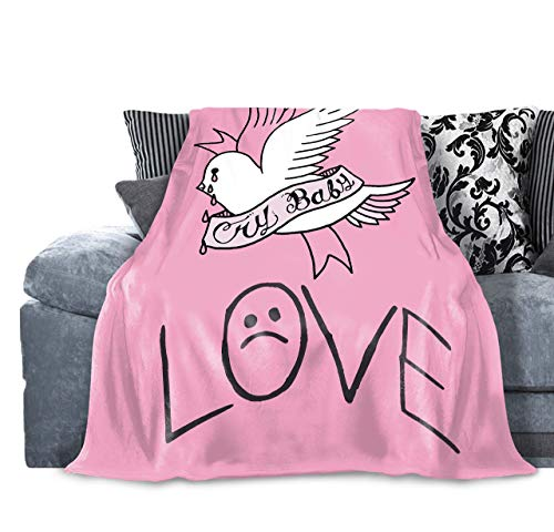 Tengyuntong Skin-Friendly Flannel Blanket Lil Lp Peep Cry Baby Novelty 50'X40' Micro Fleece for Sofa Home Camping Travelling Throw for Kids Adults Winter