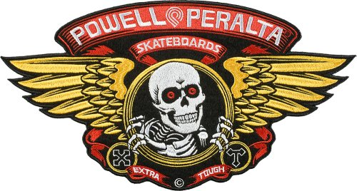 Powell Peralta Large Winged Ripper Patch 30 cm