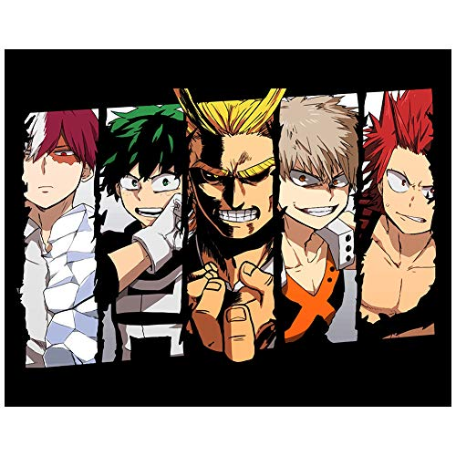 Tina Silvergray My Hero Academia Paint by Numbers Kit, 20 by 16 Inch...
