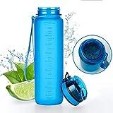 Tritan Botella de Agua 350ml, 500ml, 650ml, 1l - de plástico sin BPA - al Aire...