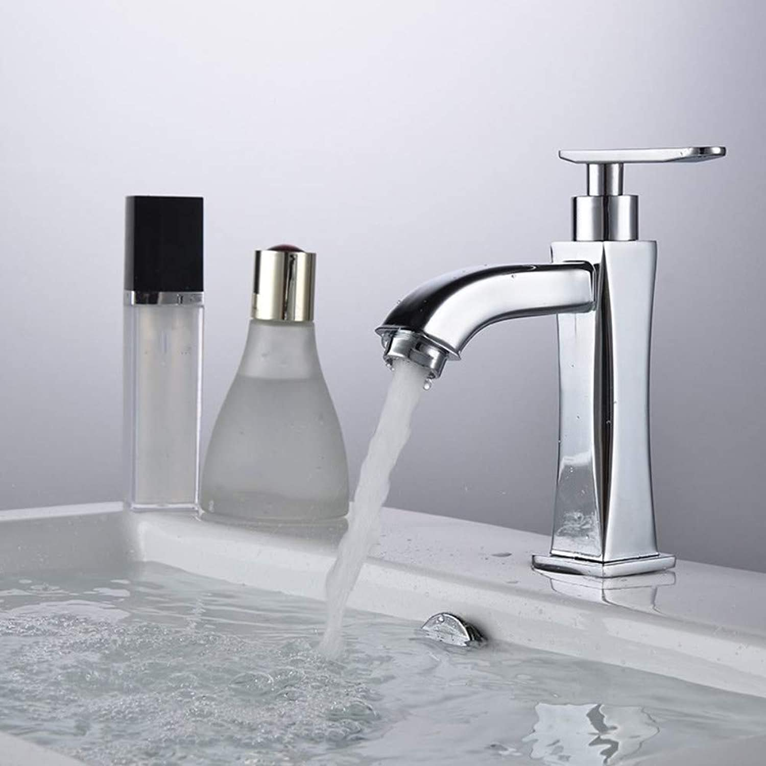 redOOY Taps Faucet All Copper Basin Faucet???Copper Basin Faucet Single Cold Faucet Single Bathroom Cabinet